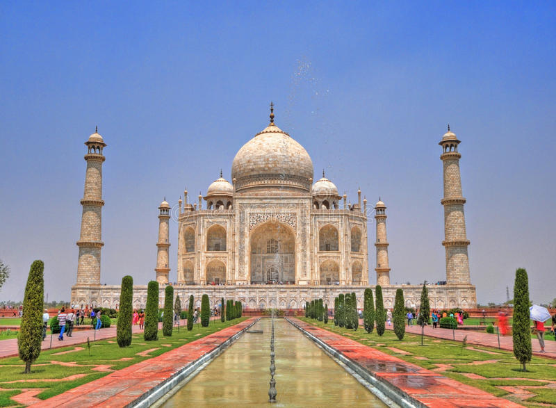 Taj Mahal, Agra, Índia fotos de stock royalty free