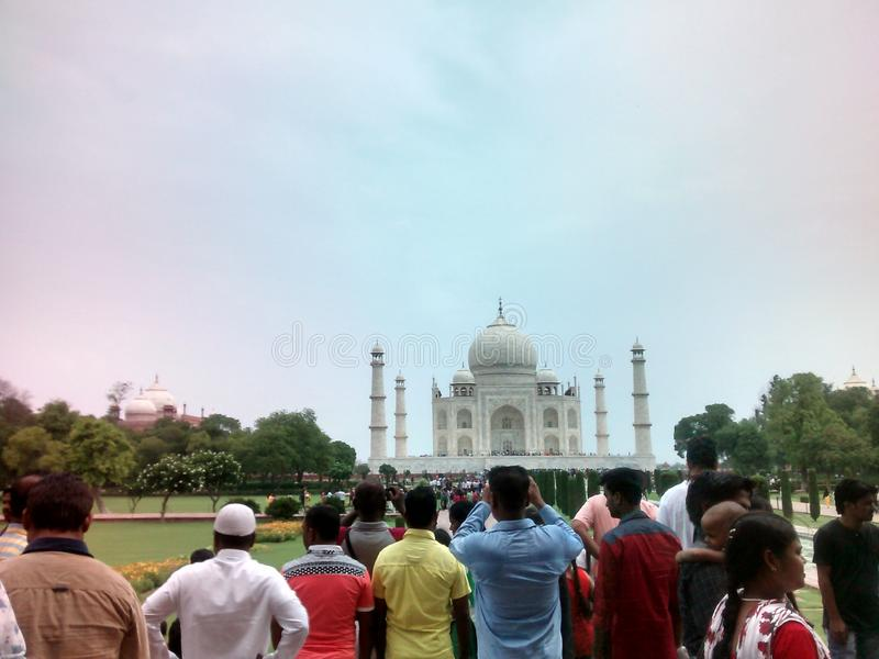 Taj Mahal Agra stockfotos