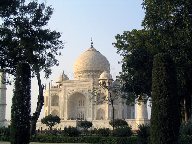 Taj Mahal in Agra stock afbeelding