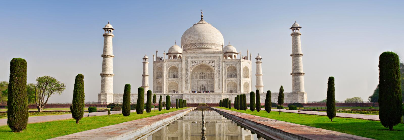 Taj Mahal, Agra immagine stock