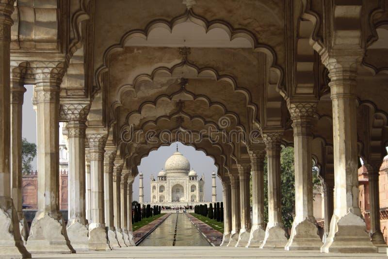 Taj Mahal in Agra royalty-vrije stock afbeeldingen
