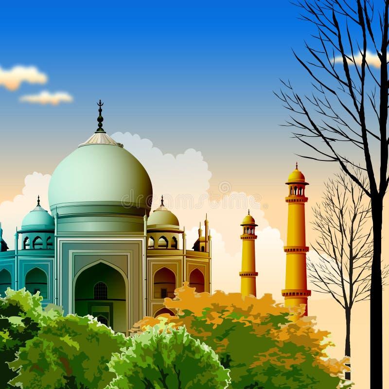 Taj Mahal, agra, India royalty-vrije illustratie