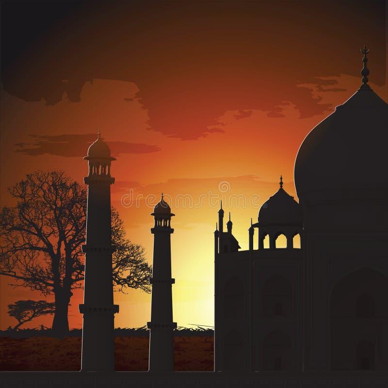 Taj Mahal, agra, India stock illustratie