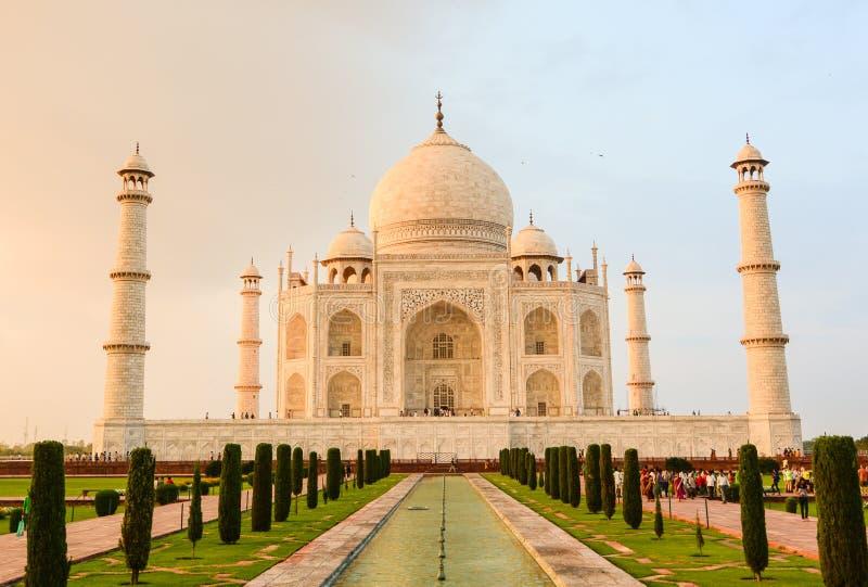 Taj Mahal a Agra, India fotografia stock