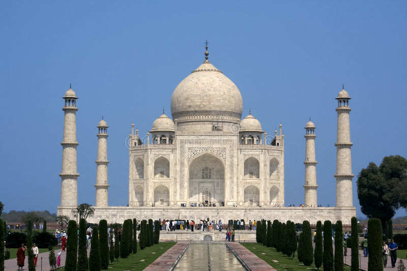 Taj Mahal at Agra, India stock image
