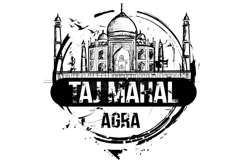 Taj Mahal. Agra, india city design. royalty free illustration
