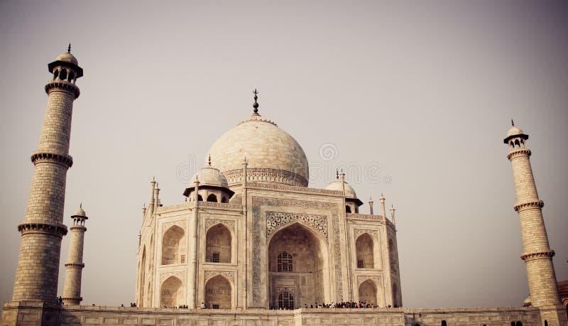 Taj Mahal, Agra, India con il filtro fotografie stock libere da diritti