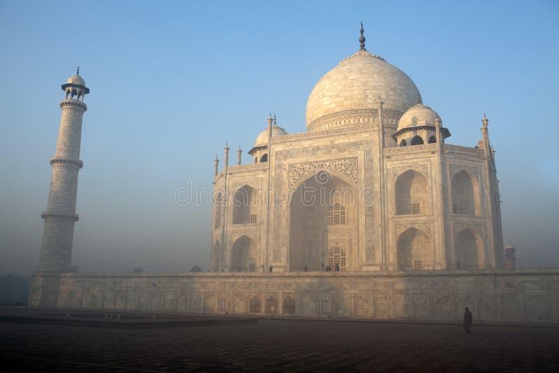 Taj Mahal in Agra, India in de vroege ochtend royalty-vrije stock foto