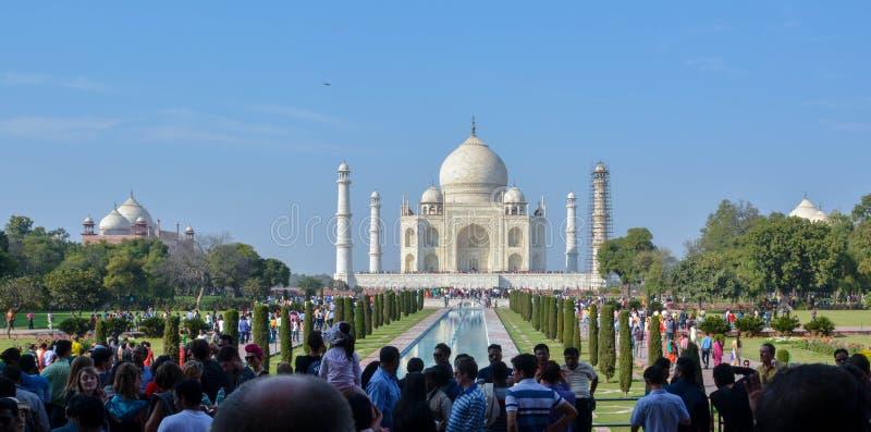 Taj Mahal, Agra, India, 19 Februari, 2017 royalty-vrije stock foto
