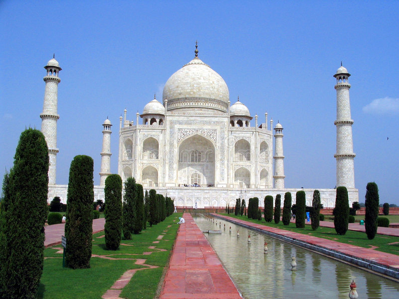 Taj Mahal, Agra, Indien stockbilder