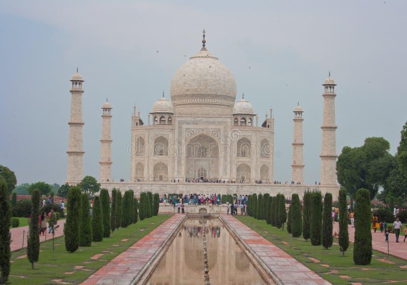 Taj Mahal, Agra (Indien) royaltyfria bilder