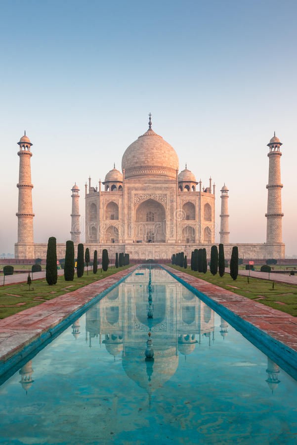Taj Mahal Agra, Indien arkivfoton