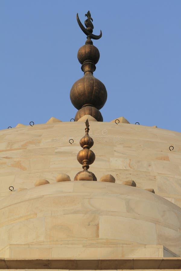 Taj Mahal in Agra Indien stockbilder