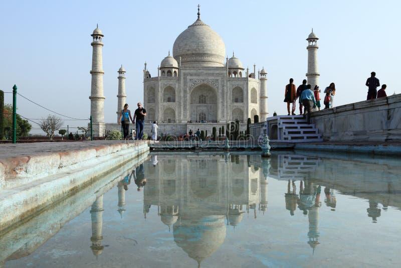 Taj Mahal in Agra Indien stockfotografie