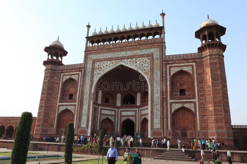 Taj Mahal in Agra Indien lizenzfreie stockfotos
