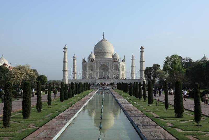 Taj Mahal in Agra Indien lizenzfreie stockfotografie