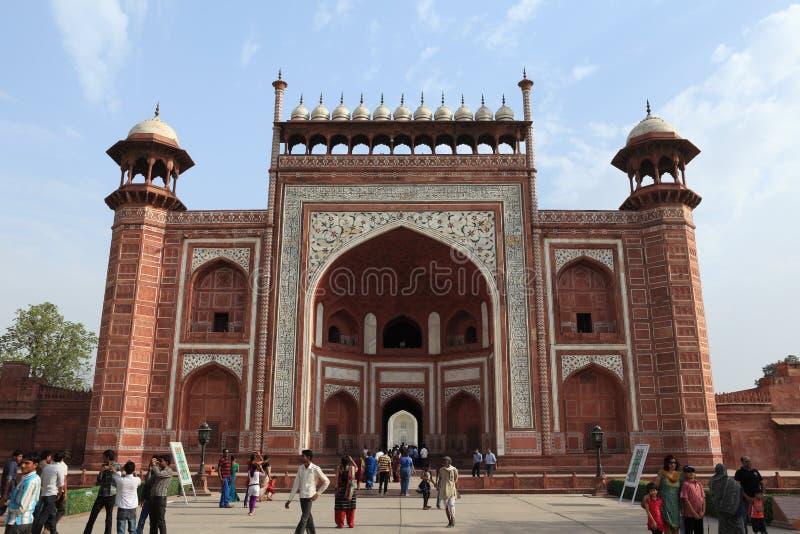 Taj Mahal in Agra Indien lizenzfreie stockbilder