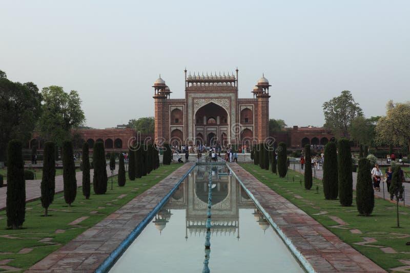 Taj Mahal in Agra Indien lizenzfreies stockbild
