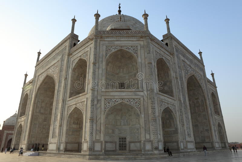 Taj Mahal in Agra Indien stockbild