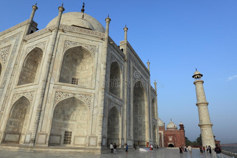 Taj Mahal in Agra Indien lizenzfreies stockfoto