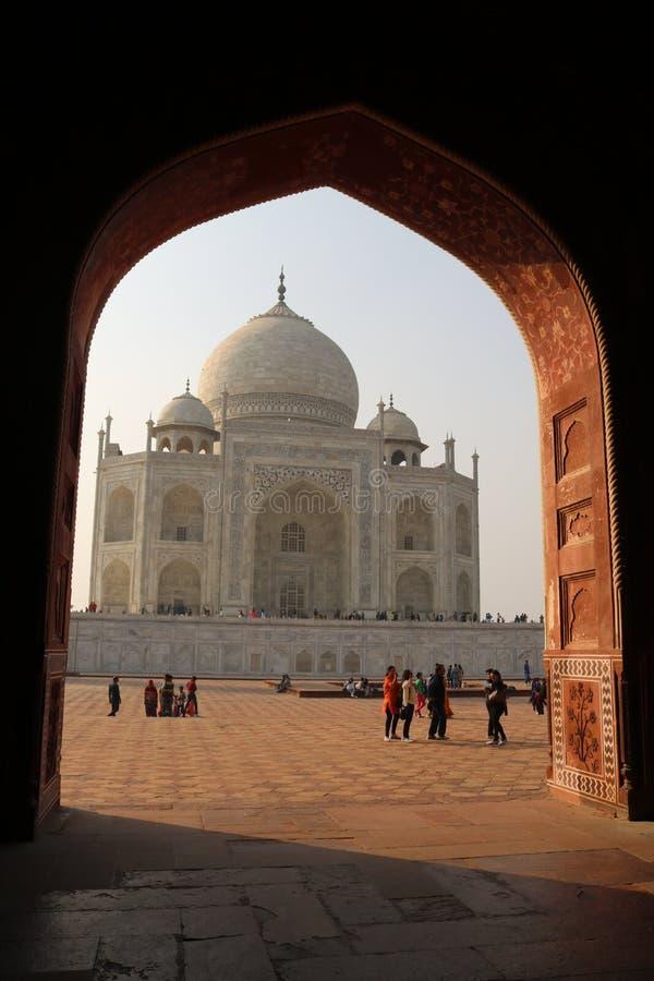 Taj Mahal - Agra Indien lizenzfreies stockbild