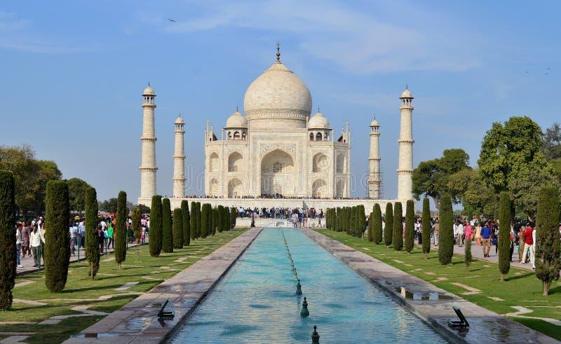 Taj Mahal Agra Indien, under av världen royaltyfria bilder