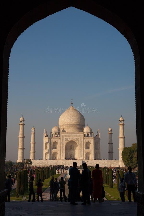 Taj Mahal, Agra L'INDIA - 7 DICEMBRE 2012 fotografia stock libera da diritti