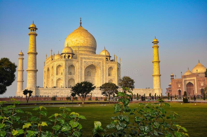 Taj Mahal in Agra-Stadt, Uttar Pradesh-Zustand, Indien lizenzfreies stockbild