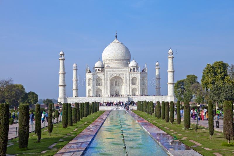 Taj Mahal in Agra, Uttar Pradesh, Indien stockfotografie
