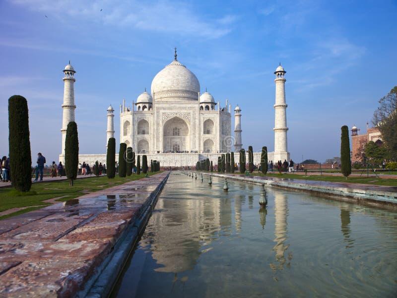 Taj Mahal in Agra, Uttar Pradesh, Indien lizenzfreie stockfotos