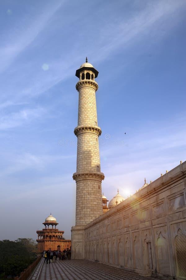 Taj Mahal in Agra, Uttar Pradesh, Indien lizenzfreie stockfotografie