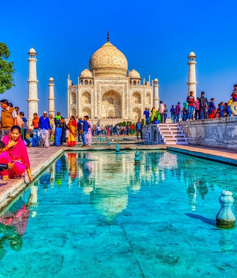 Taj Mahal in Agra, Uttar Pradesh, Indien stockfotos