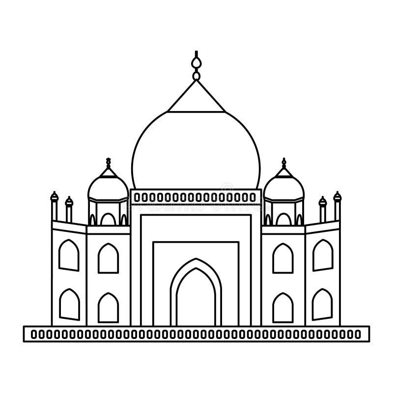 Taj mahal architectuur vector illustratie