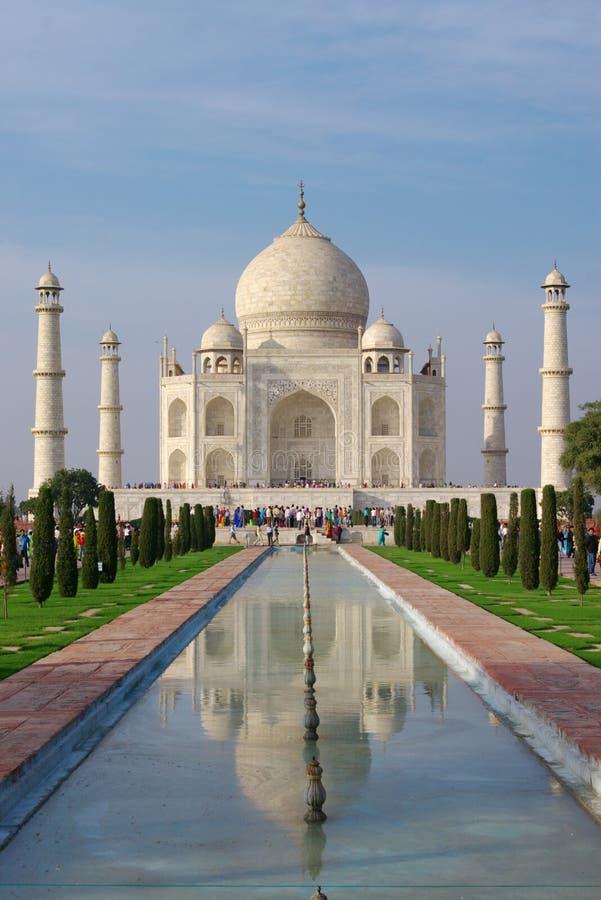 Taj mahal in avondlicht royalty-vrije stock afbeelding