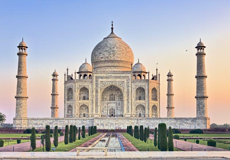 Taj Mahal bench at sunrise