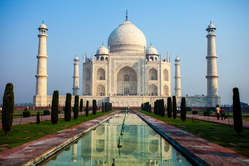 Taj Mahal, berühmtes historisches Monument A, a-Monument der Liebe, das größte weiße Marmorgrab in Indien, Agra, Uttar Pradesh lizenzfreie stockfotografie