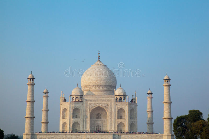 Taj Mahal bij Schemer royalty-vrije stock fotografie