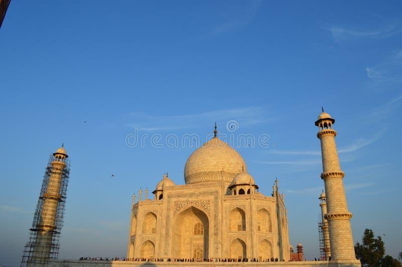 Taj Mahal bij zonsondergang royalty-vrije stock afbeeldingen
