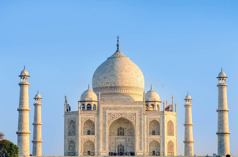Taj Mahal, cielo blu, viaggio in India immagine stock