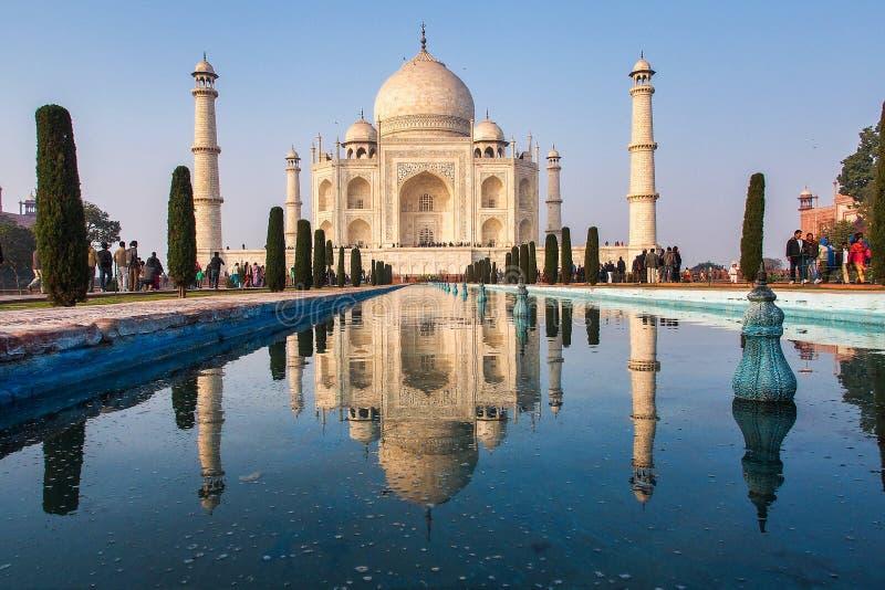 Taj Mahal dans la ville d'?gr?, ?tat d'Uttar Pradesh, Inde images libres de droits