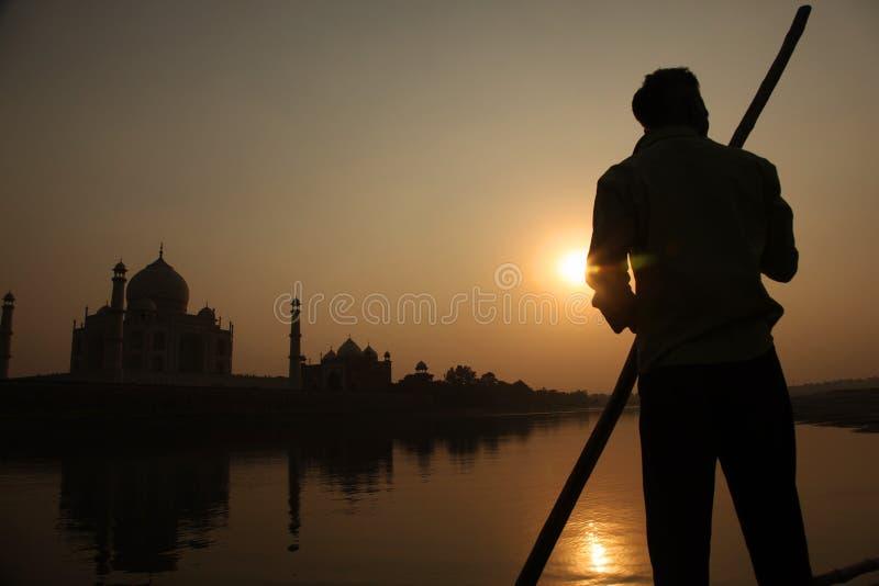 Taj Mahal in de avond royalty-vrije stock fotografie