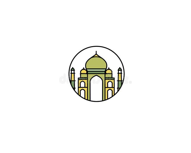 Taj Mahal Drawn, Índia Agra ilustração royalty free