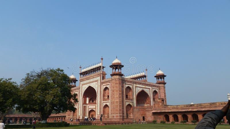 Taj Mahal Eingang stockbild