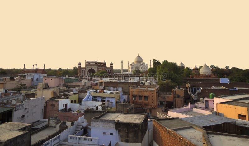 Taj Mahal em Agra imagem de stock