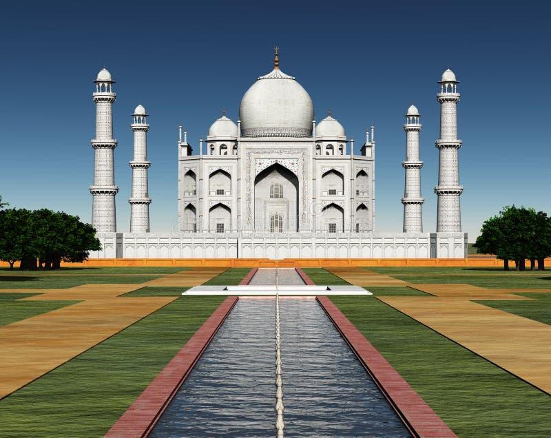 Taj Mahal em India ilustração royalty free