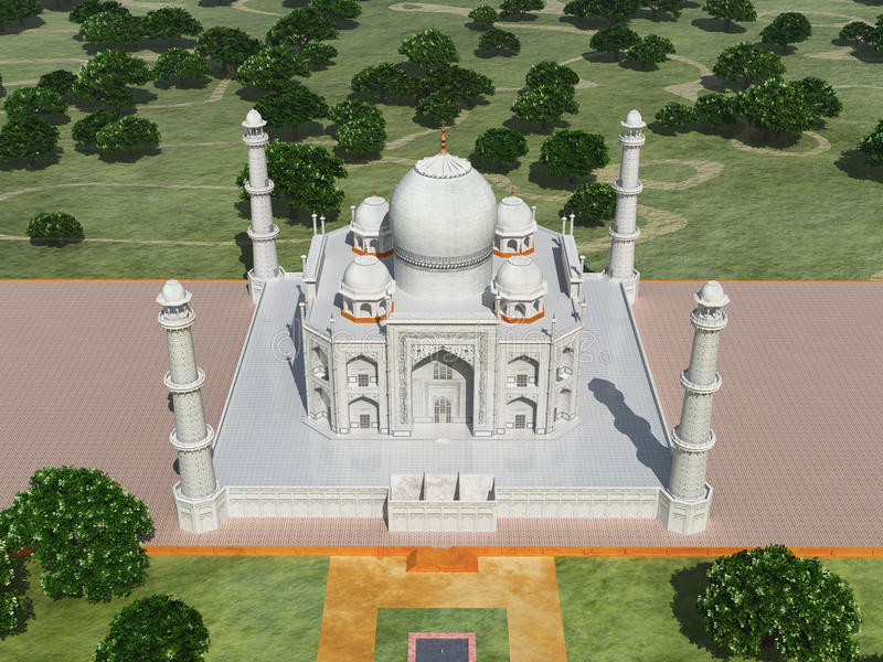 Taj Mahal em India ilustração stock
