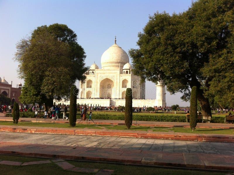 Taj mahal em 1632 pelo grande xá do empore jahan imagem de stock royalty free