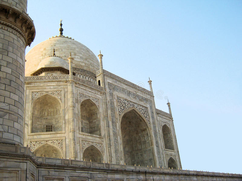 Taj Mahal en Agra foto de archivo libre de regalías