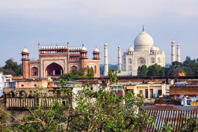 Taj Mahal en Agra royalty-vrije stock fotografie