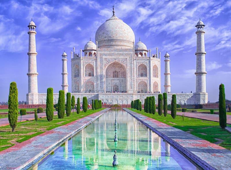 Taj Mahal en Agra, la India fotos de archivo libres de regalías